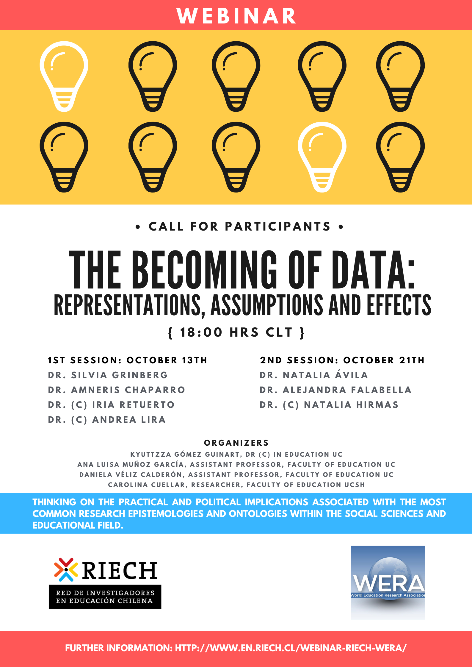 "Webinar ""The becoming of data: representations, assumptions and effects"""